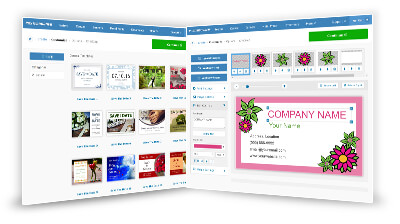 Custom made business card prints onlinetemplates editor step 3 customize your card add text and your personal information in our business card maker tool reheart Image collections