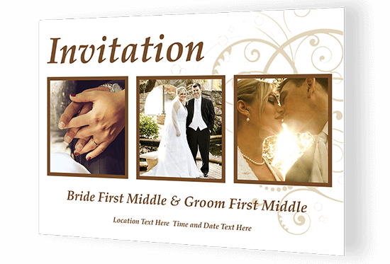 Custom Printed Invitations Use Template Or Your Design