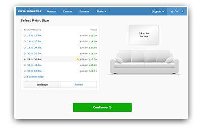 custom poster printing online editor fast shipping