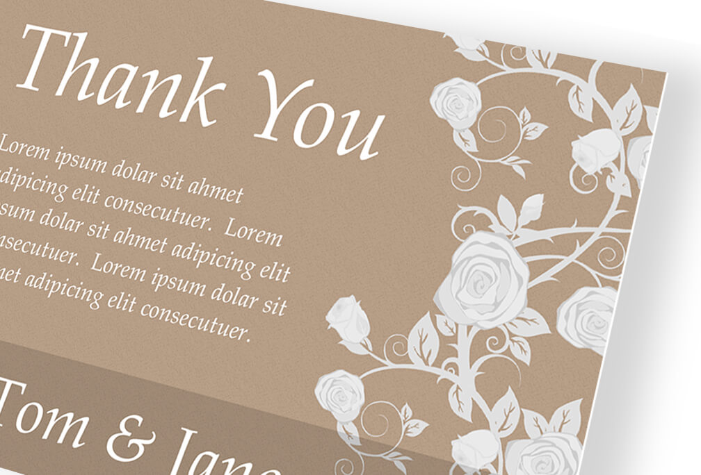 Custom Printed Thank You Cards Online For All Occasions - Custom thank you card template